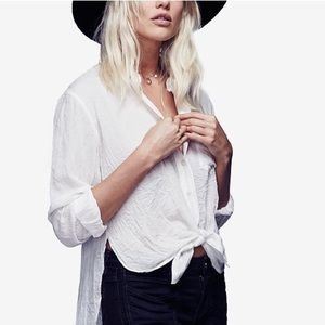 Free People That's a Wrap Tie Front Shirt